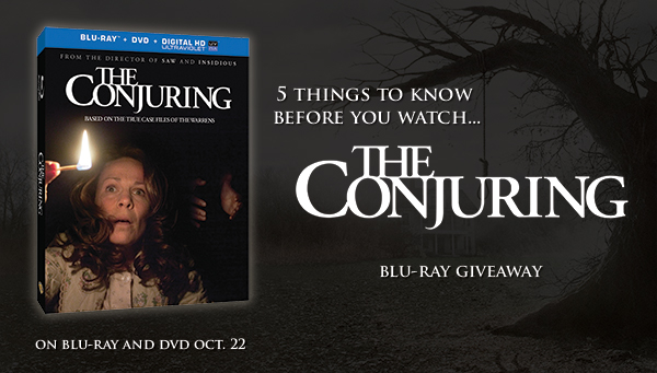 the conjuring blu-ray giveaway promo